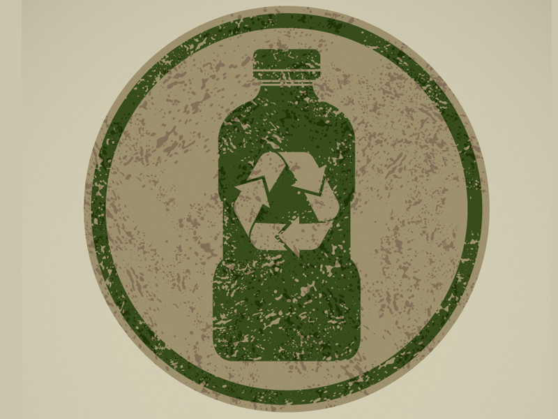 Recycling image of water bottle
